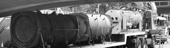 Removal, lifting and transportation of heavy cast iron boilers.